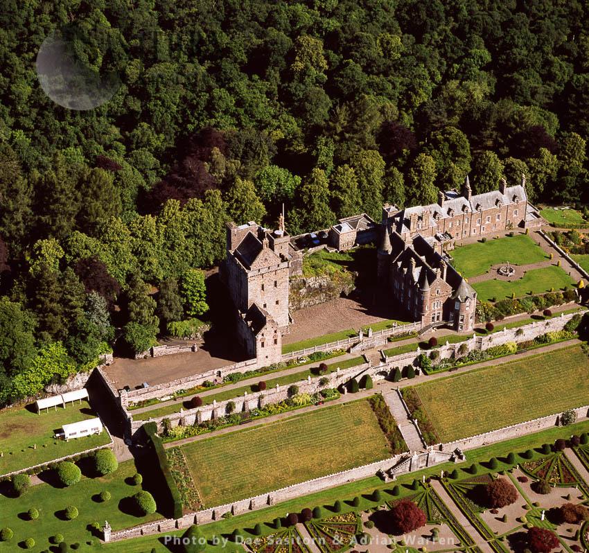 Drummond Castle,  Perthshire, Lowlands, Scotland