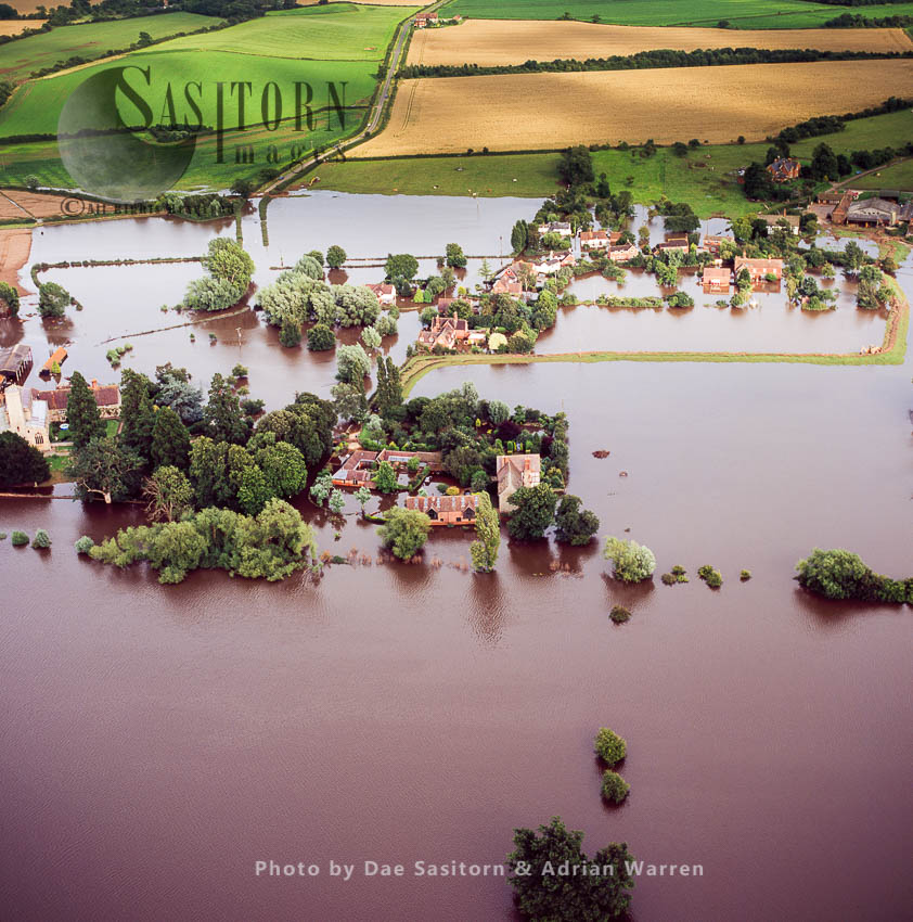 Flooding In Tewkesbury Area, 2007, From River Severn And Avon, Gloucestershire, England