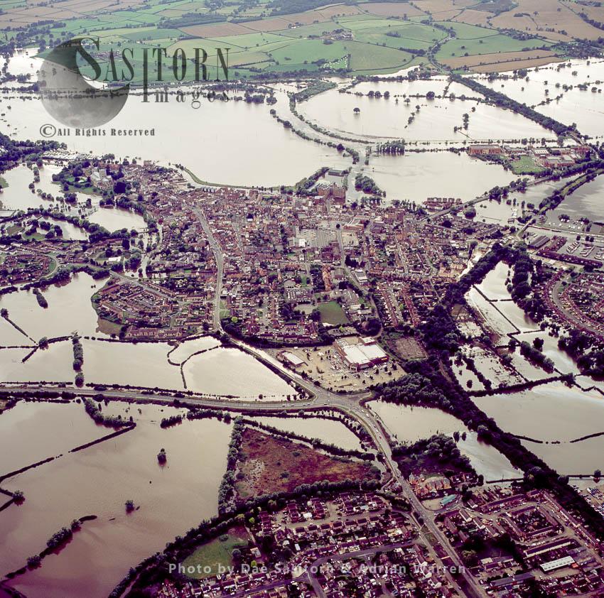 Floods In 2007, Tewkesbury, Gloucestershire, England
