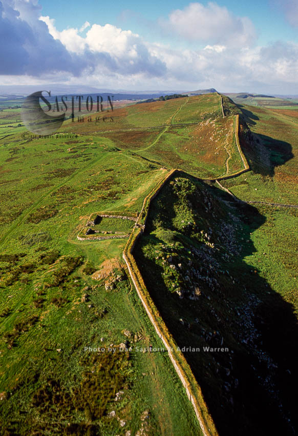 Milecastle 37, One Of The Milecastles On Hadrian's Wall. It Is Immediately West Of The Housesteads Roman Fort, Northumberland, England