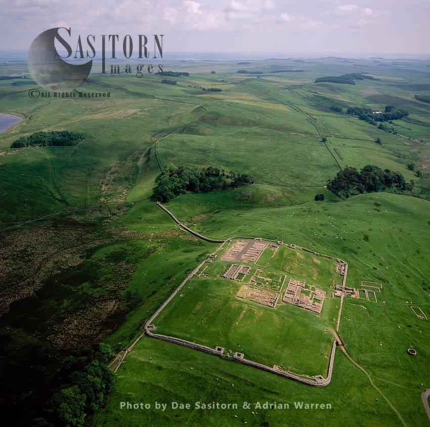 Housesteads Roman Fort And Hadrian's Wall, Northumberland, England