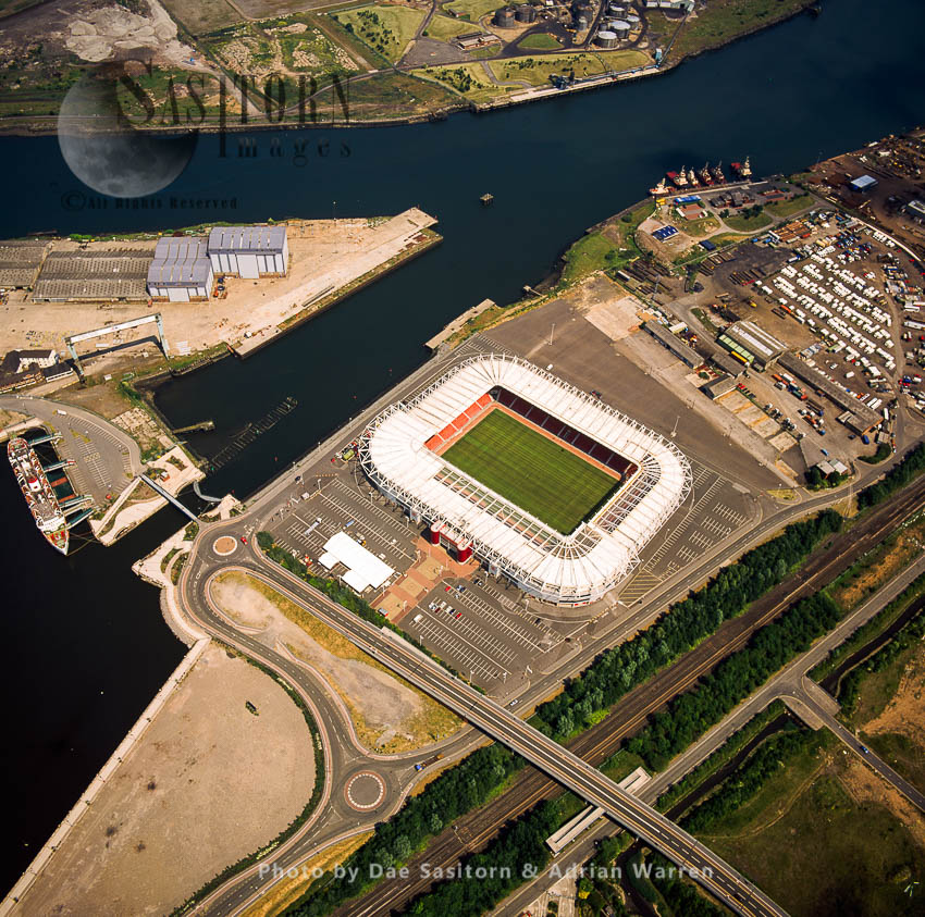 Middlesbrough Football Stadium By The River Tees, Cleveland