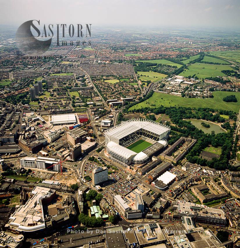 St. James Park, Newcastle United Football Club And Stadium, Newcastle-upon-Tyne, On The River Tyne, North East England