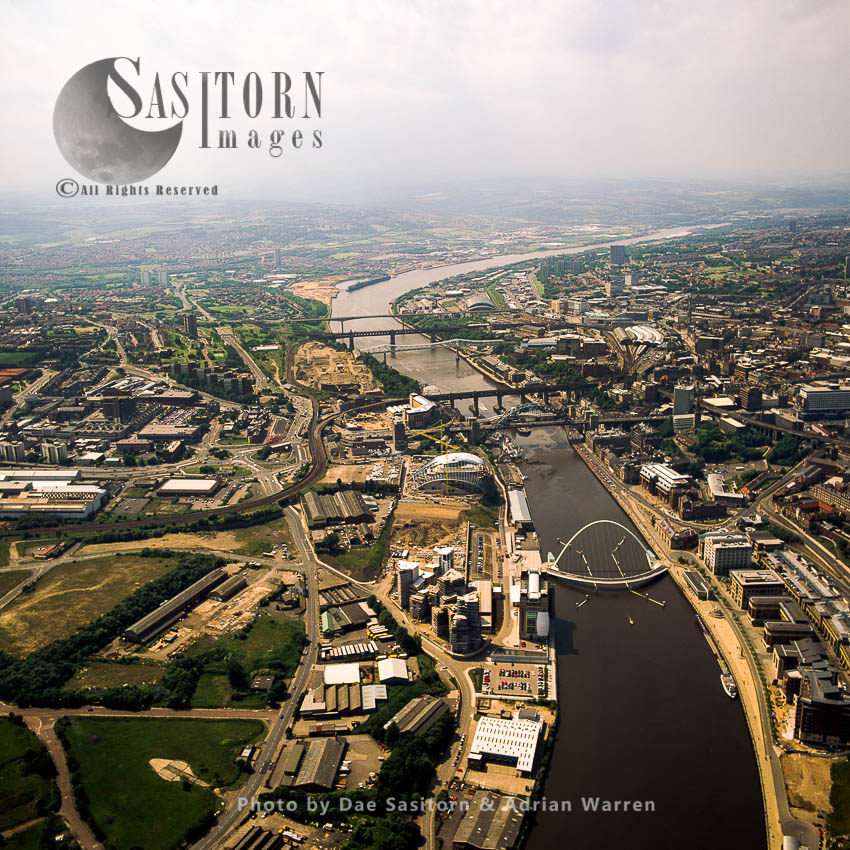 The Seven Bridges Of Newcastle, On The River Tyne, Newcastle-upon-Tyne, North East England