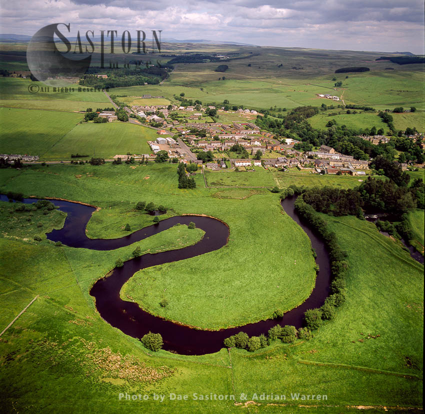 Otterburn On The River Rede, Northumberland, England