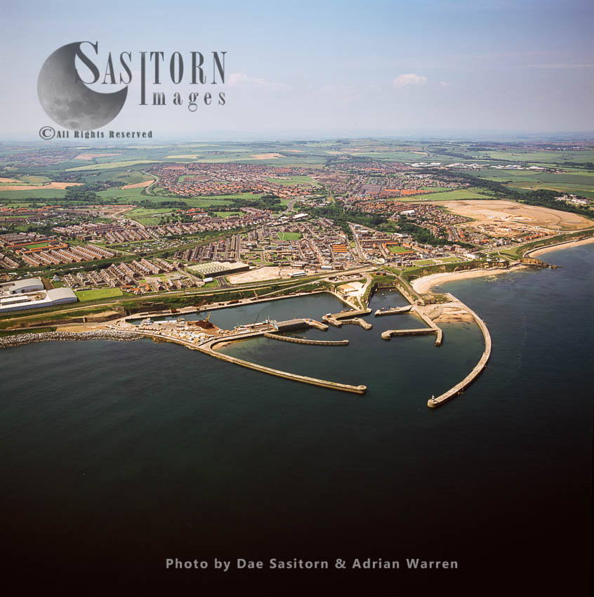 Seaham, Town And Its  Harbour, Durham