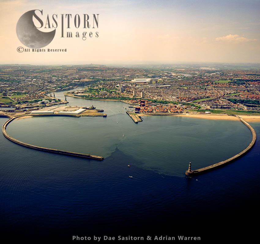 Roker Pier And Sunderland Docks, Sunderland, Tyne And Wear, England