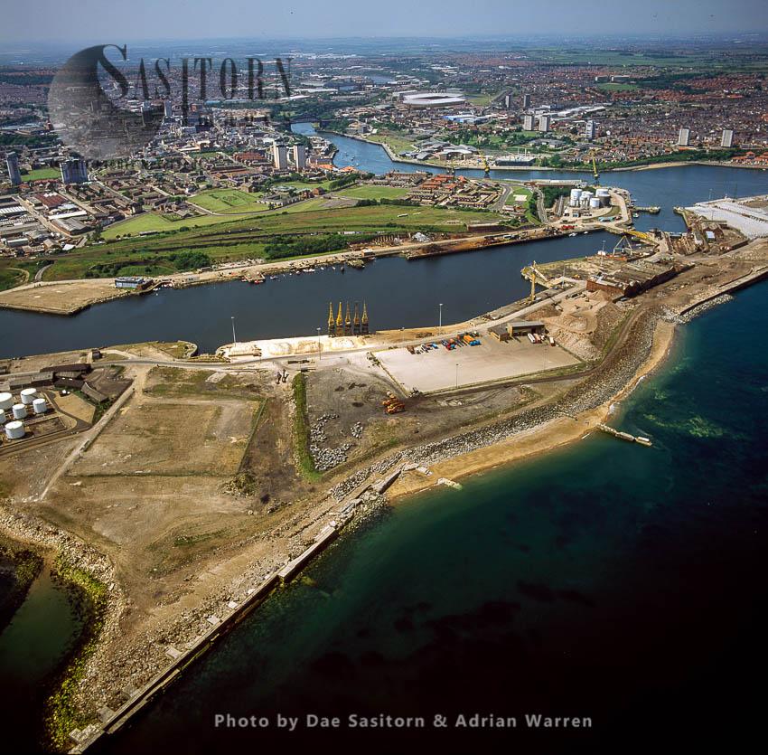Sunderland  Docks, Sunderland, Tyne And Wear, England