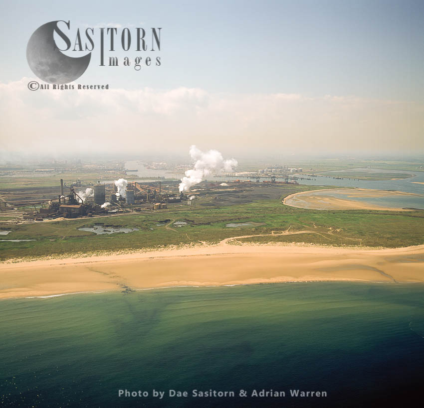Tees Estuary, Steelworks Industrial Site, Cleveland, England