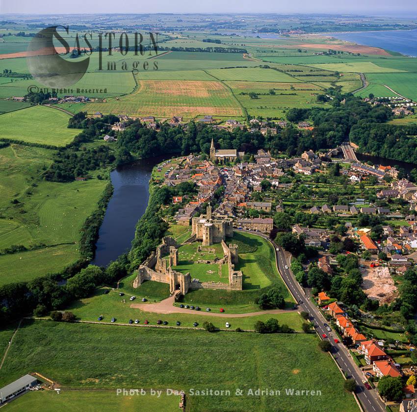 Warkworth Castle, River Coquet, Northumberland, England