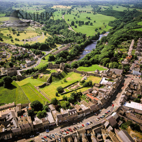 Barnard Castle, A Castle And A Market Town, On The North Bank Of River Tees, Teesdale, Durham\