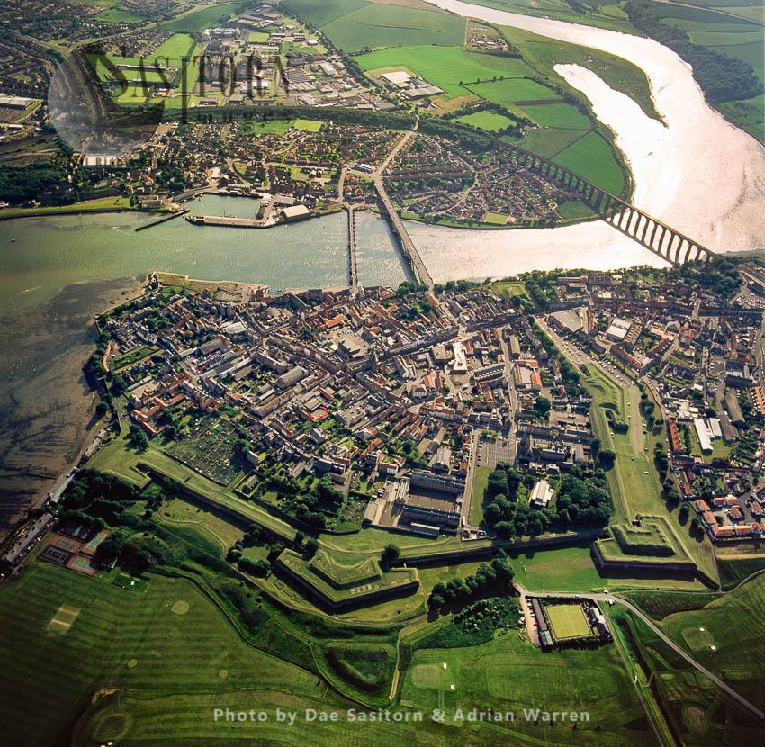 Berwick-upon-Tweed On The Estuary Of River Tweed, Northumberland, England