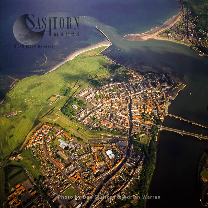 Berwick-upon-Tweed On The Estuary Of River Tweed, Northumberland, England
