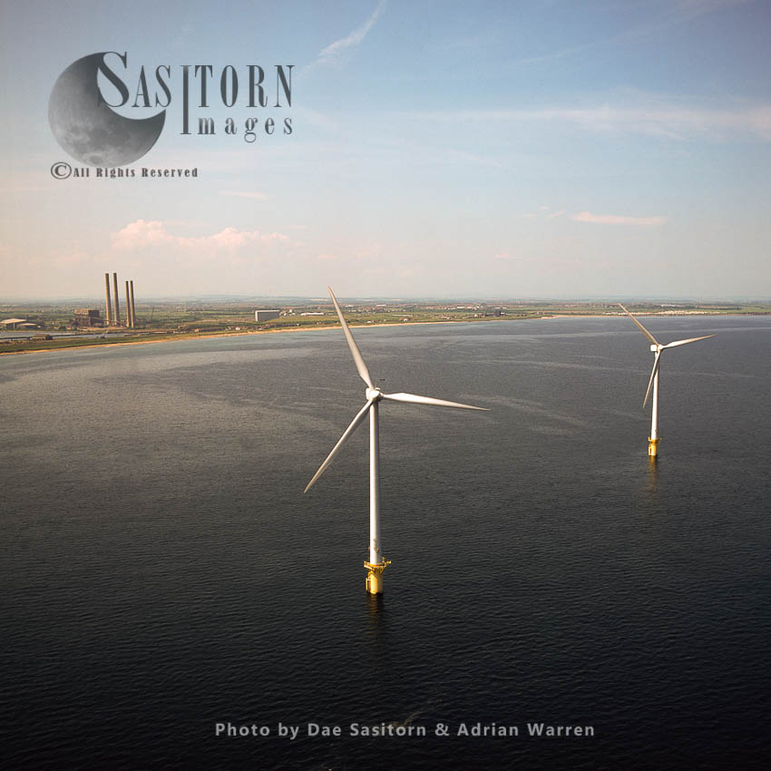 Wind Turbines, Blyth Offshore Wind Farm, 1 Km Out To Sea, Blyth, Northumberland