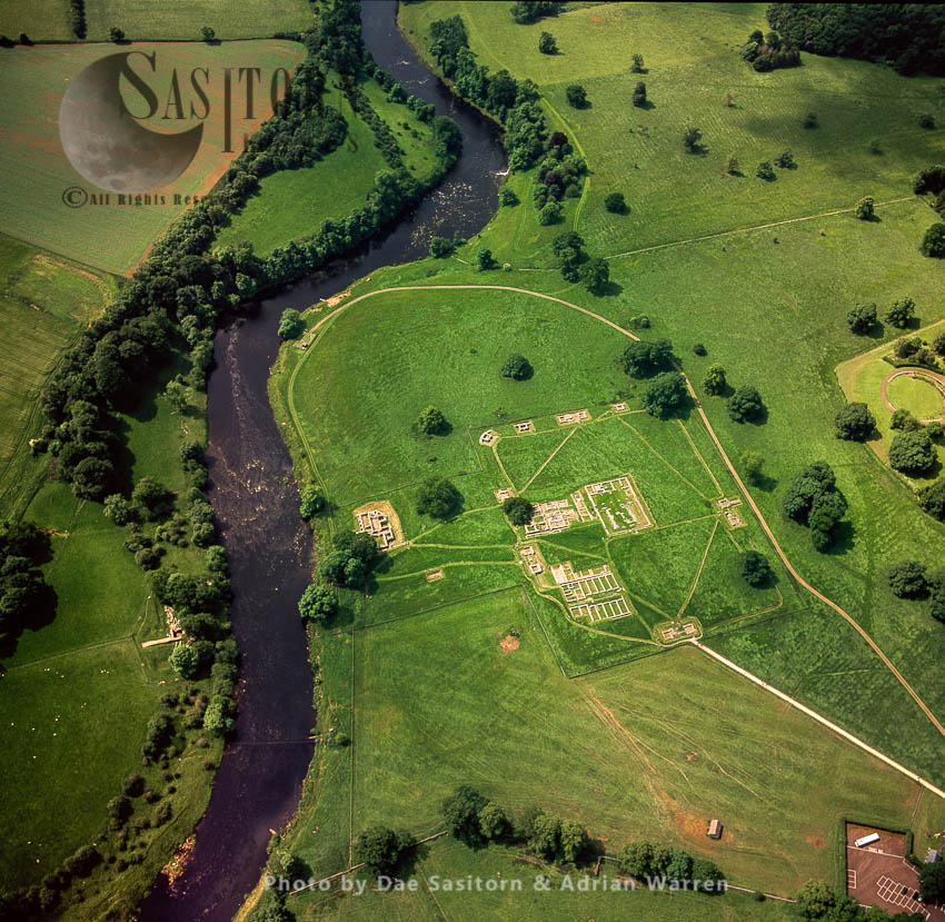 Chesters Roman Fort On Hadrian's Wall, On The River North Tyne, Northumberland, England
