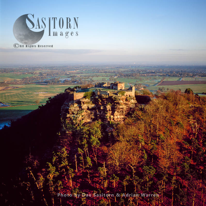 Beeston Castle, A Former Royal Castle In Beeston, Cheshire, England, Perched On A Rocky Sandstone Crag 350 Feet Above Cheshire Plain