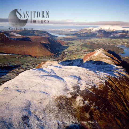Newlands Valley West Of Derwent Water With High Crags In Foreground, Derwent Fells, Lake District National Park, Cumbria, England