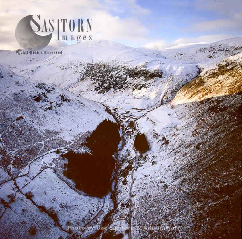 Glenridding Beck  In Snow, West Of Glenridding, Ullswater, Lake District National Park, Cumbria, England