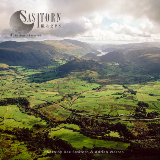 View Over St Johns In The Vale, Valley North Of Thirlmere Reservoir, Lake District National Park, Cumbria