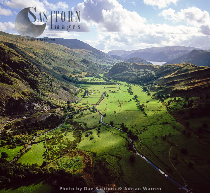 St John's In The Vale, A Glacial Valley North Of Thirlmere Reservoir, With St John's Beck River Meanders, Lake District National Park, Cumbria, England