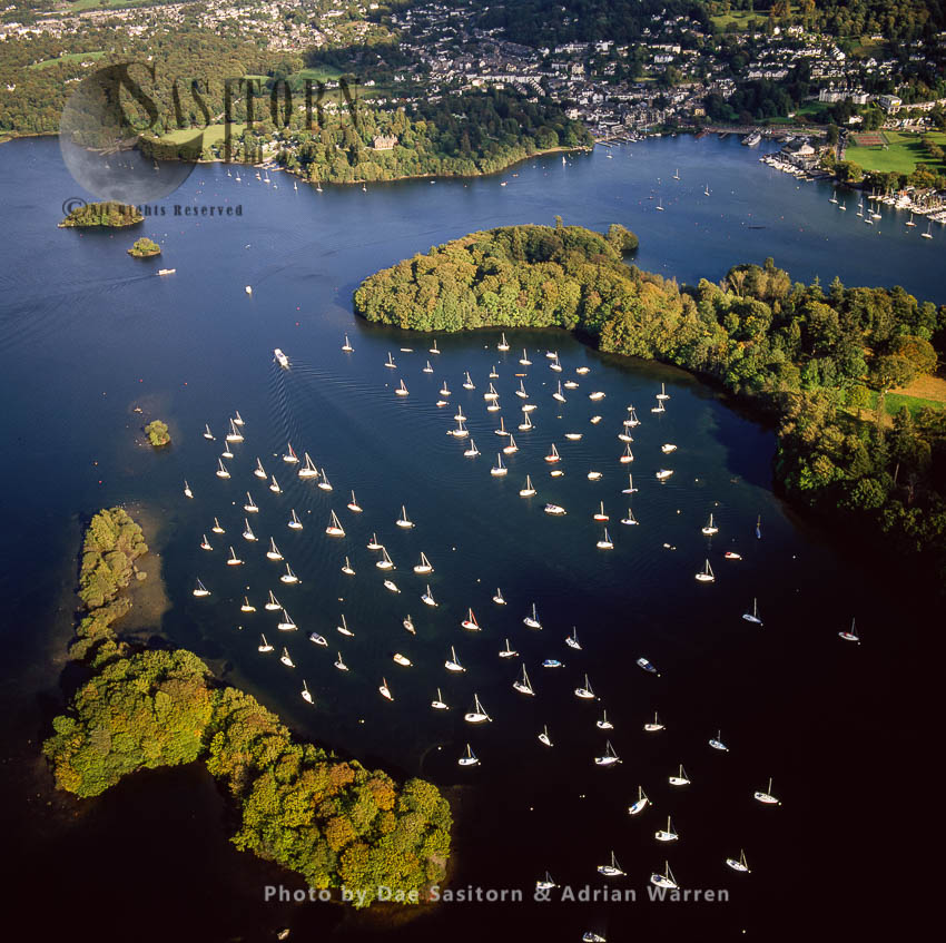 Boats On Windermere, At Belle Isle, Bowness-on-Windermere, Lake District National Park, Cumbria