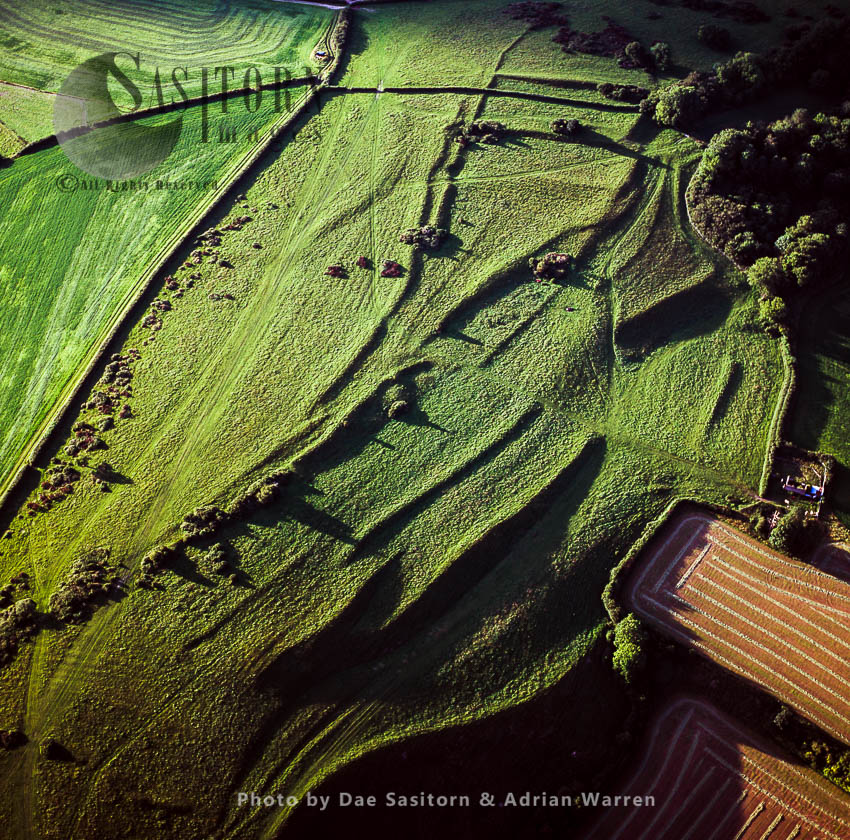 Lynchets, Iron Age Field System, Near Alton Pancras, Dorset