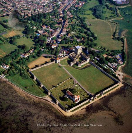 Portchester Castle, A Medieval Castle And Former Roman Fort, Portchester, Hampshire