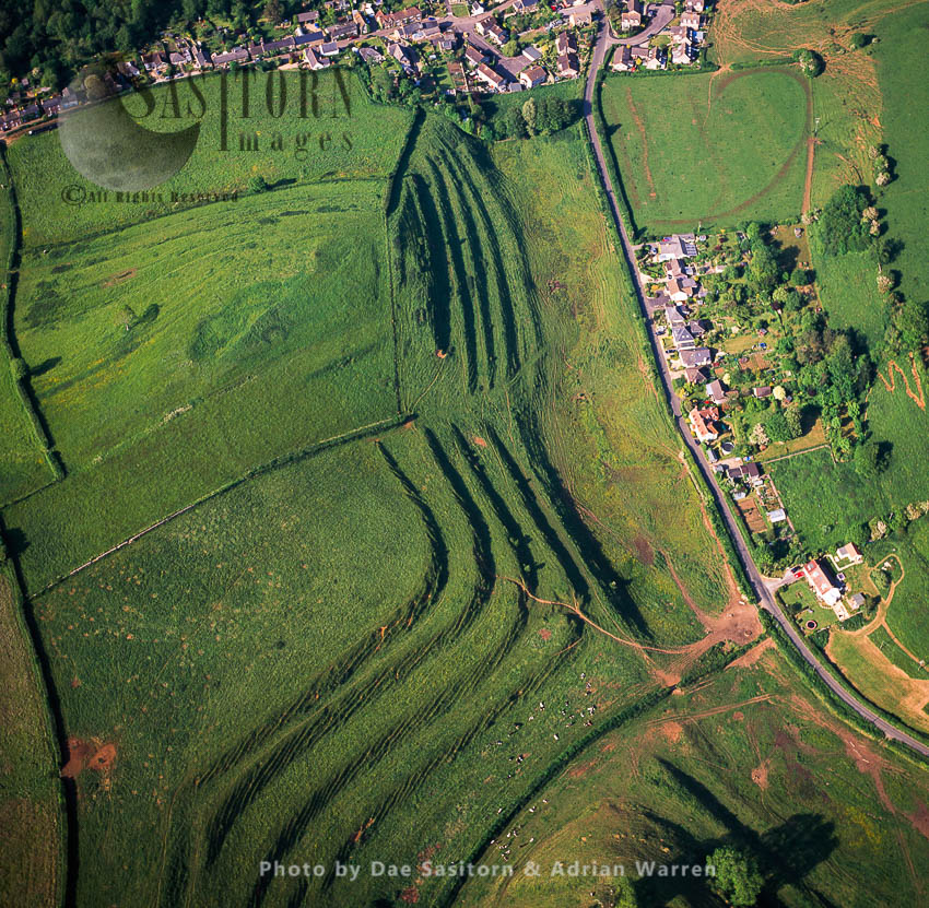 Medieval Strip Lynchets Near Uploaders, Dorset, England