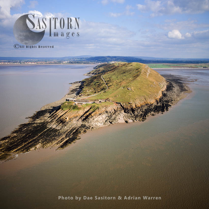 Brean Down, A Promontory Off The Coast Of Somerset, England