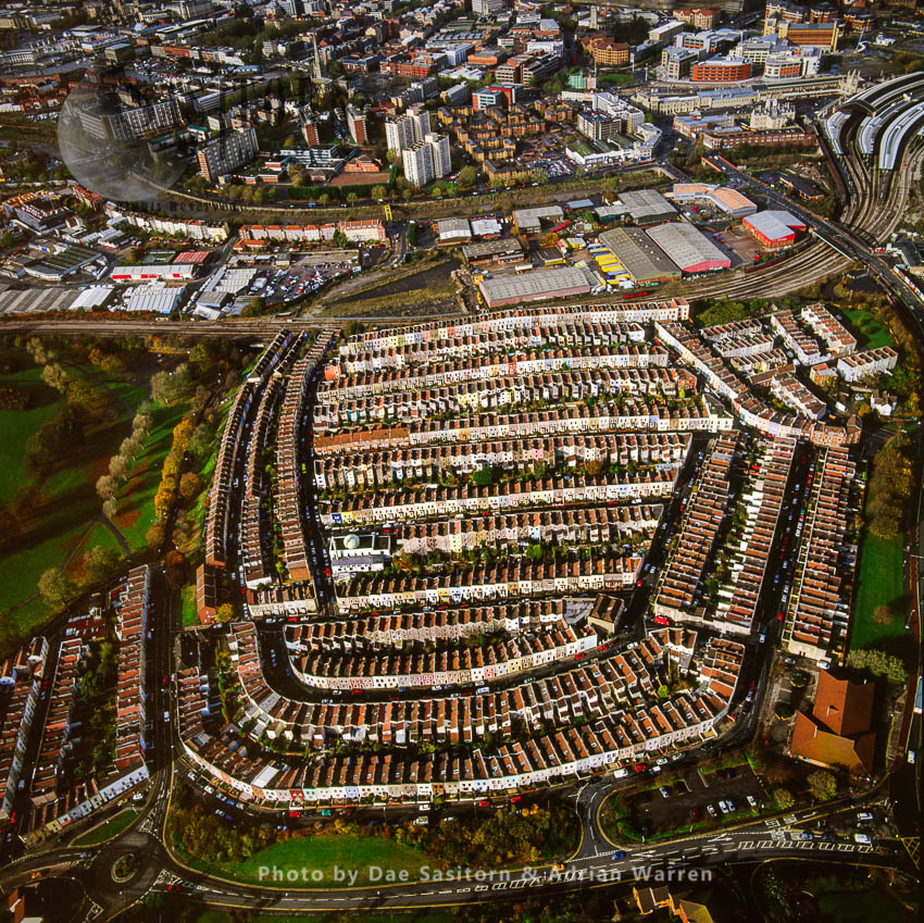 Housing In Residential Area Of Totterdown, Near Temple Meads Railway Station, Bristol, Somerset