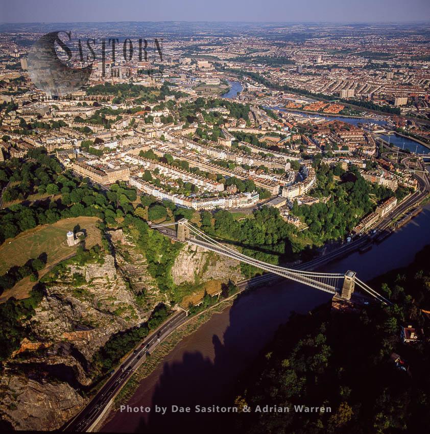 Clifton Suspension Bridge Over Avon Gorge, Clifton, Bristol, Somerset, England