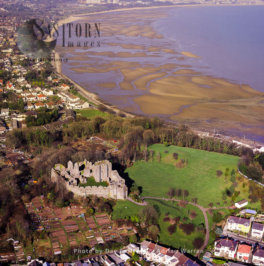 Oystermouth Castle, Mumbles, Swansea, South Wales