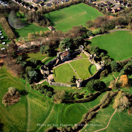 Caldicot Castle, An Extensive Stone Medieval Castle In The Town Of Caldicot, Monmouthshire, In South Wales