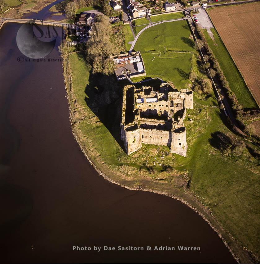 Carew Castle On The Carew River, Pembrokeshire, South Wales