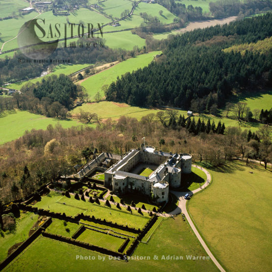 Chirk Castle, Stone Quadrangular Fortress, 1 M W Of Chirk, South Of Wrexham,  North Wales