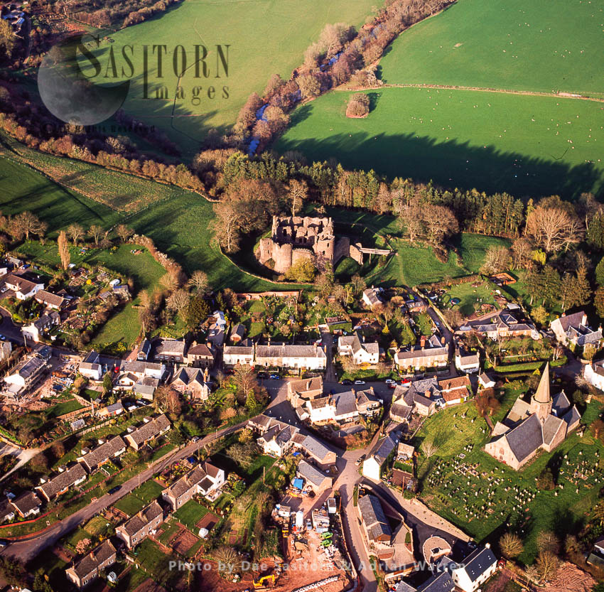Grosmont Castle And Village, South Wales