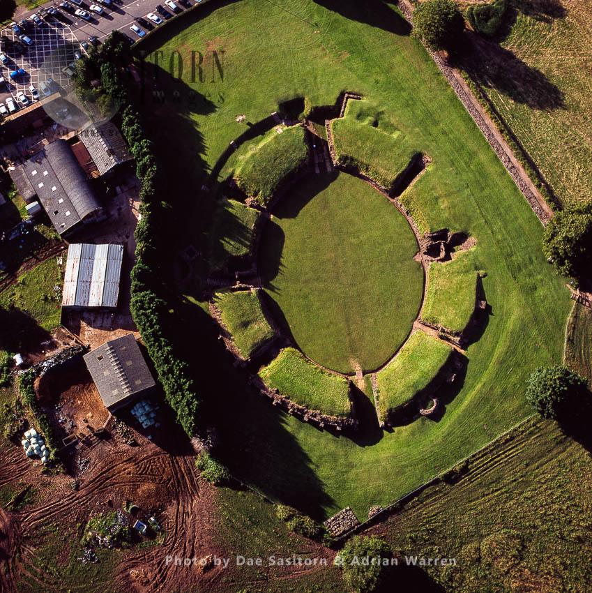 Caerleon Amphitheatre (Isca Augusta), A Legionary Fortress In The Roman Province Of Britannia, Caerleon, Near Newport In South-east Wales