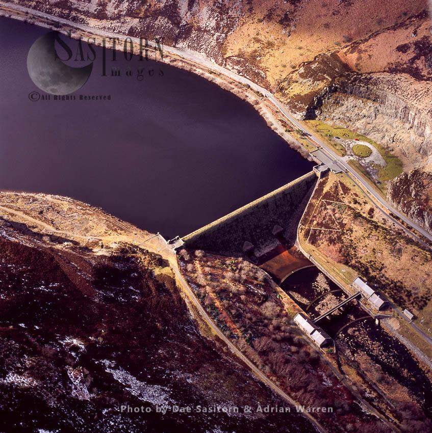 Caban Coch Dam,  Elan Valley, Powys, South Wales