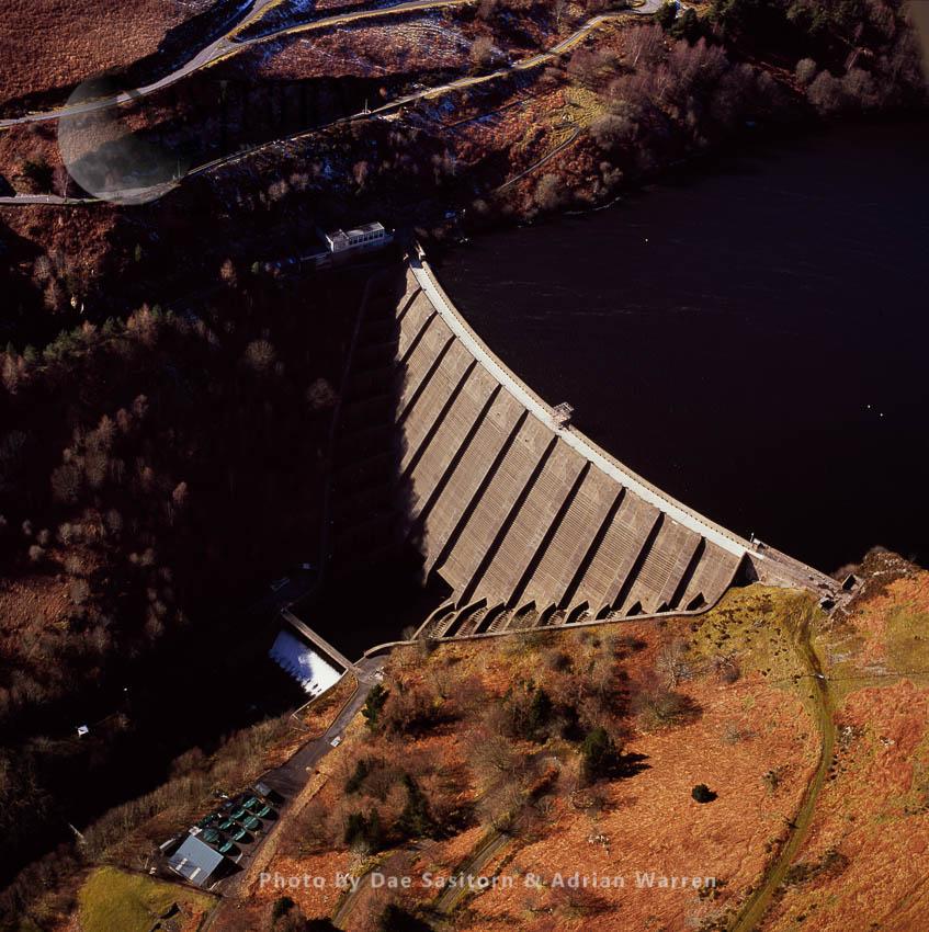 Llyn Clywedog And Clywedog Dam Near Geufron, Powys