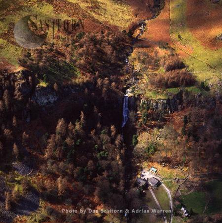 Pistyll Rhaeadr, A Waterfall In The Berwyn Mountains, Just Inside Wales, West Of Oswestry And Shrewsbury