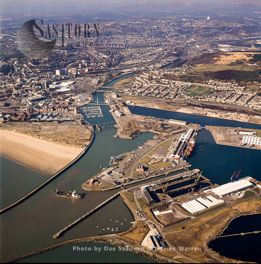 Swansea Docks, Swansea, City And County On The South Coast Of Wales
