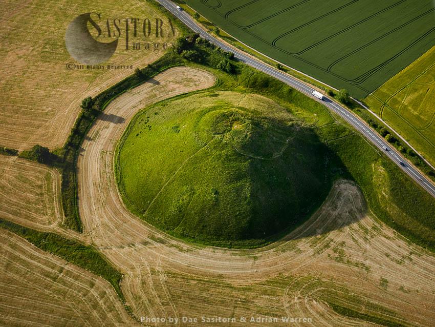 Silbury Hill, A Prehistoric Artificial Chalk Mound, Avebury, Wiltshire