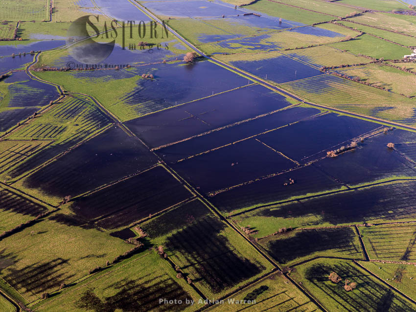 Flooding In The Somerset Levels, Somerset