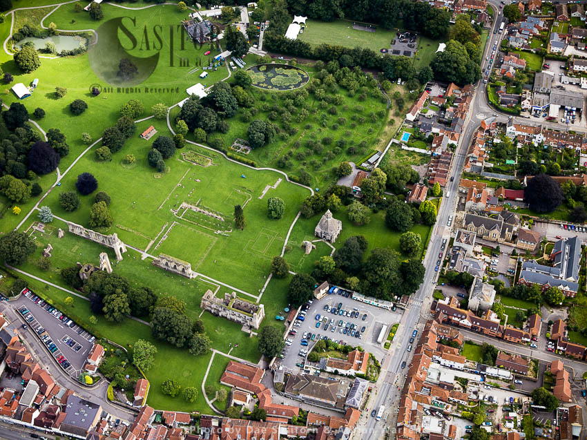 Glastonbury Abbey And Glastonbury Village, Somerset, England