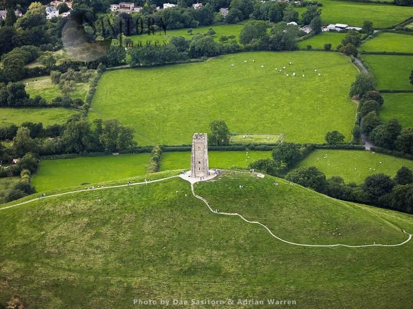 St Michael's Tower On Top Of Glastonbury Tor, Somerset, England