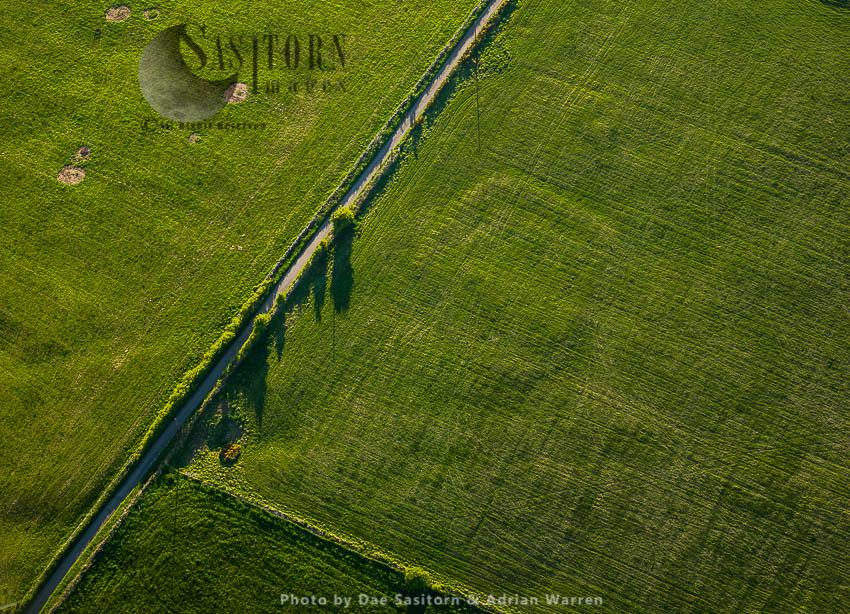 Earthwork Remains Of Charterhouse Roman Mining Settlements, Somerset