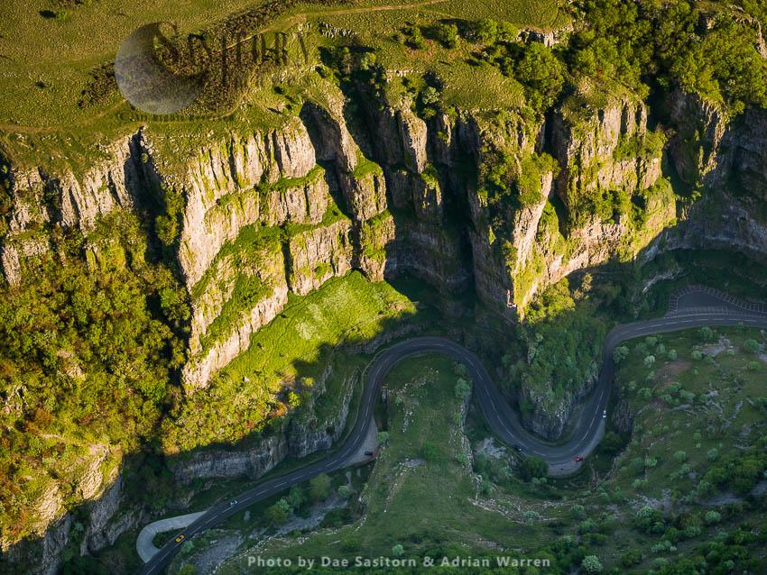 Cheddar Gorge, A Limestone Gorge In  Mendip Hills, Cheddar, Somerset. Britain's Oldest Complete Human Skeleton, Cheddar Man, Found Here