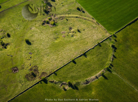 Priddy Circles, A Line Of Four Circular Earthwork Enclosures, Priddy, Somerset (the   First One From The South End Is Shown In Picture, See Others In Series)