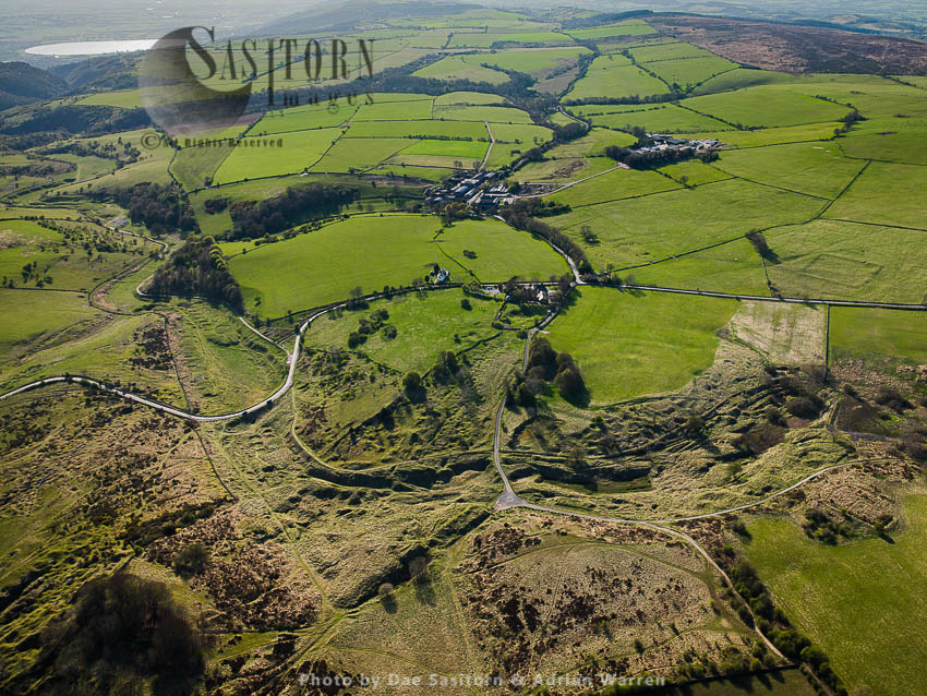 Lead Mining, Extraction, Excavation Sites At Charterhouse Roman Settlement, Somerset, England