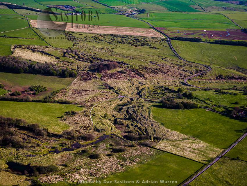 Lead Mining, Extraction, Excavation Area At Charterhouse Roman Settlement, Somerset, England